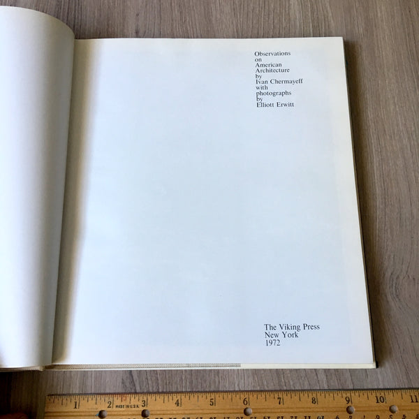Observations on American Architecture by Ivan Chermayeff - 1972 first edition - NextStage Vintage