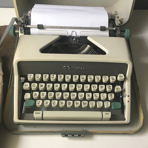 Olympia SM9 De Luxe typewriter with case, instructions and extras - 1960s vintage - NextStage Vintage