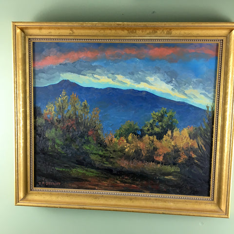 New Hampshire mountains sunset landscape by Robert M. Orfant - oil on canvas