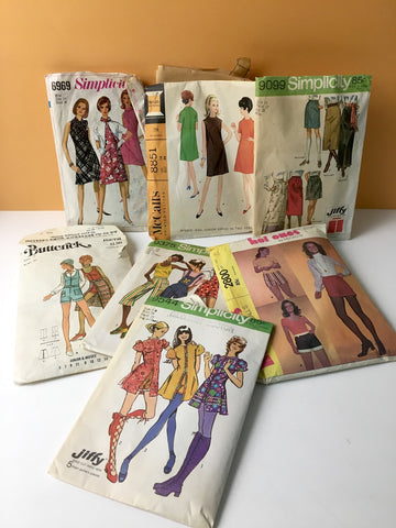 Simplicity, McCalls, Butterick patterns - lot of 8 - 1970s - NextStage Vintage