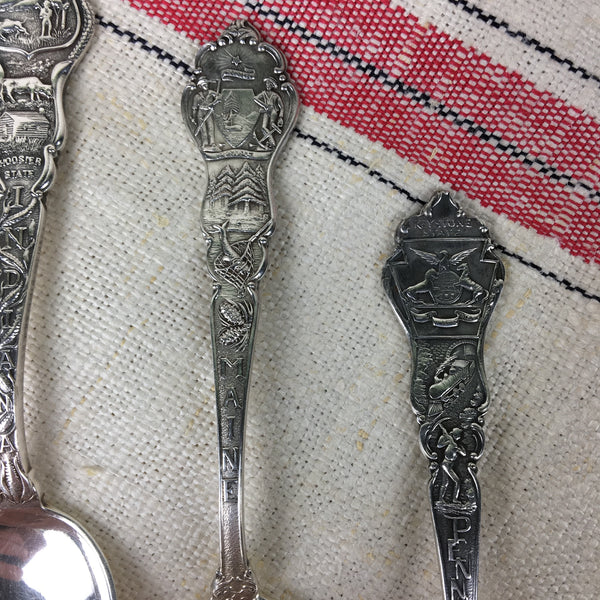 State spoons by Paye & Baker - silverplate five o'clock spoons - assorted states