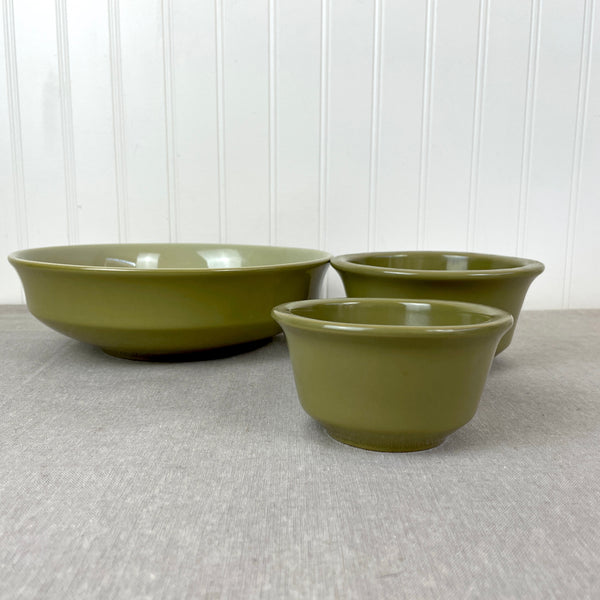 Franciscan Pebble Beach open vegetable bowl and sauce bowls  - 1970s vintage earthenware - NextStage Vintage