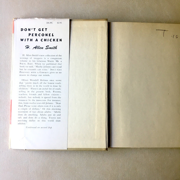 Don't Get Perconel with a Chicken - H. Allen Smith - 1959 hardcover first edition - NextStage Vintage