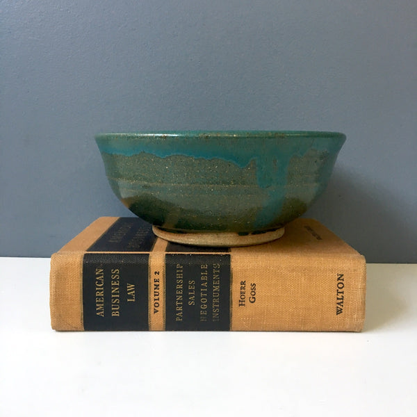 John Clancy Perkins Cove Pottery bowl - hand thrown pottery - NextStage Vintage