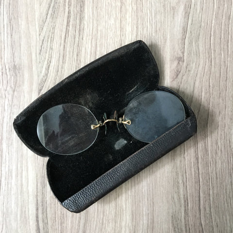 Antique pince nez glasses with case - vintage eyewear - NextStage Vintage