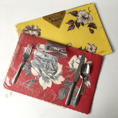 Roylprint paper placemats - 2 packages - 1950s tableware