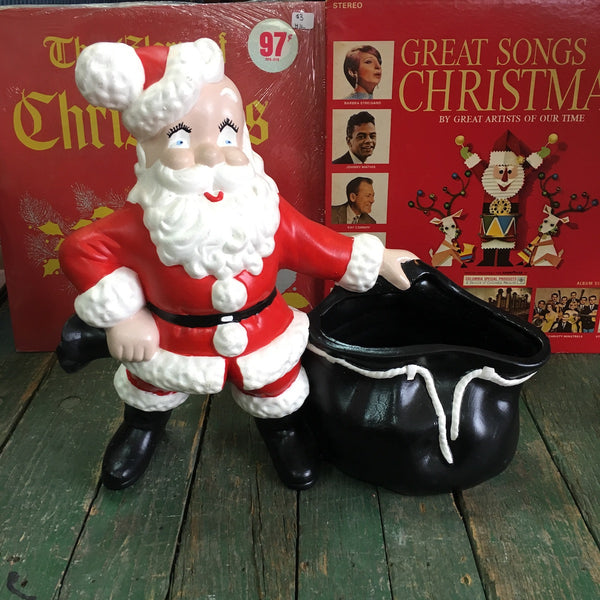 Ceramic Santa with planter bag - NextStage Vintage