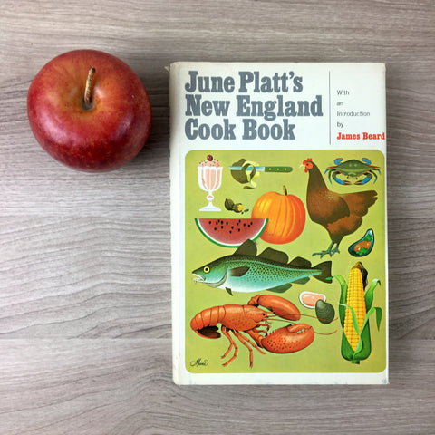 June Platt's New England Cook Book - 1971 hardcover