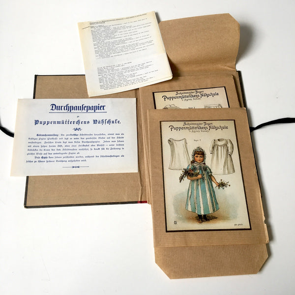 Agnes Lucas book of 8 Victorian sewing Patterns - Puppenmutterchens Nahschule - NextStage Vintage