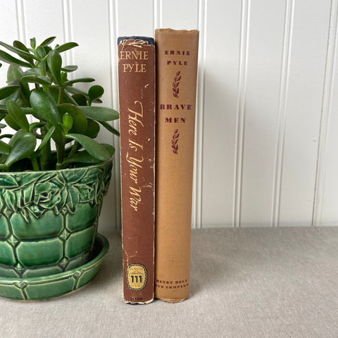 """Here is Your War"" and ""Brave Men"" - books by Ernie Pyle - 1940s hardcovers - NextStage Vintage"