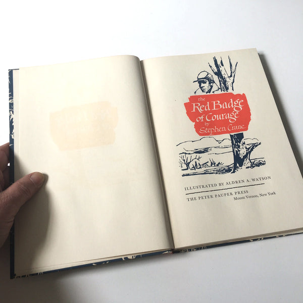 The Red Badge of Courage - Stephen Crane - hardcover with slipcase - Peter Pauper Press - NextStage Vintage