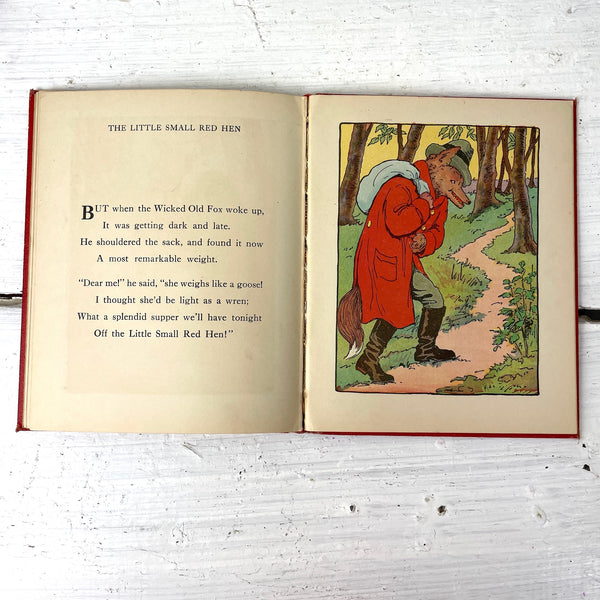 The Little Small Red Hen - 1922 hardcover - M.A. Donohue & Company - NextStage Vintage