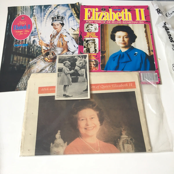 England's royal family books and ephemera collection - 1980s vintage - NextStage Vintage