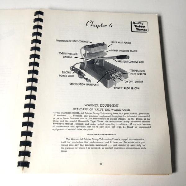 How to Make Rubber Stamps for Pleasure and Profit - Warner Electric Co. instruction - 1965 - NextStage Vintage