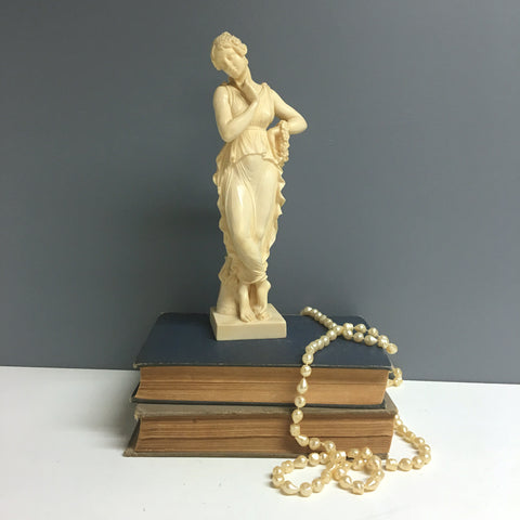 Canova's Dancer with Finger on Chin replica by G. Ruggieri - vintage resin figurine