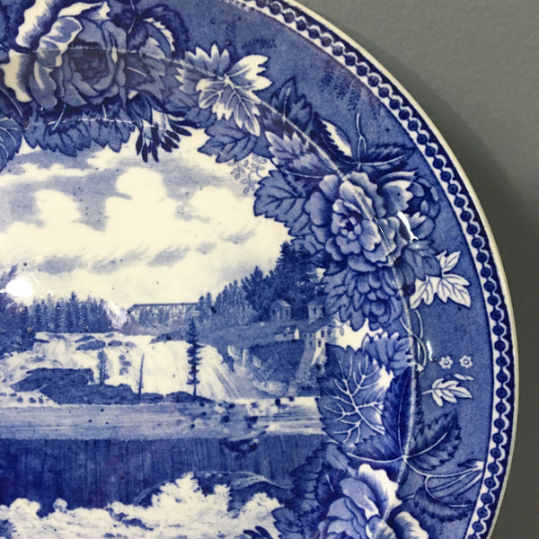 Upper Falls Rumford Falls, Maine - Wedgwood plate - vintage turn of the century souvenir plate - NextStage Vintage