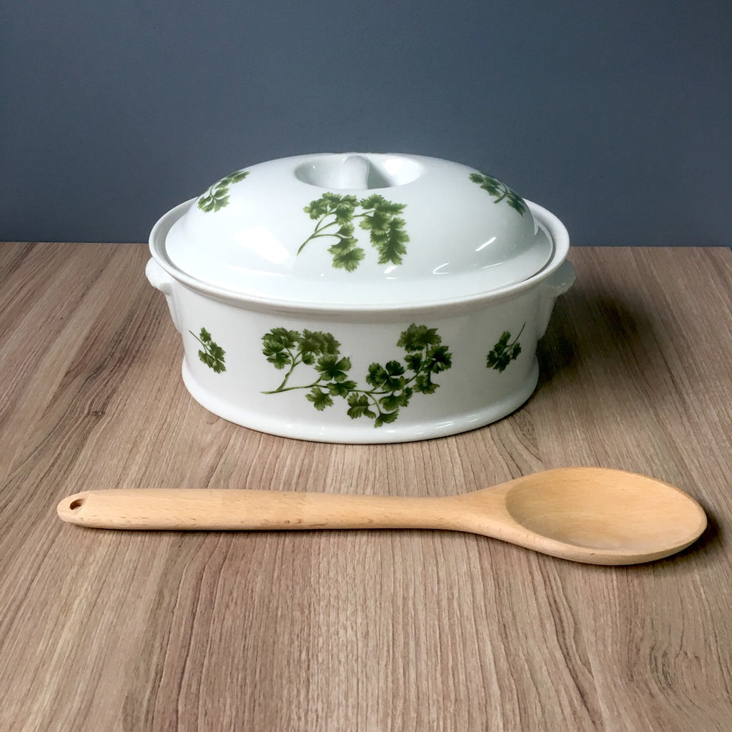Sadek Parsley oven to table oval covered casserole - vintage bakeware - NextStage Vintage