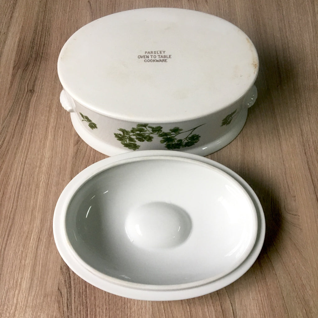 Sadek Parsley Oven To Table Oval Covered Casserole Vintage