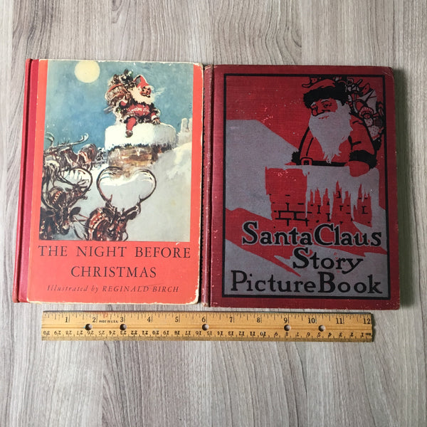 """The Night Before Christmas"" first edition and ""Santa Claus Story Picture Book"" - vintage Christmas books - NextStage Vintage"