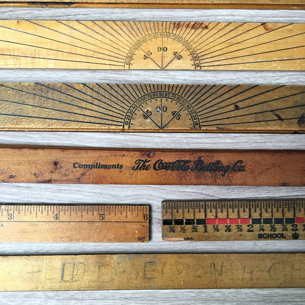 Office and school rulers - lot of 8 vintage measures
