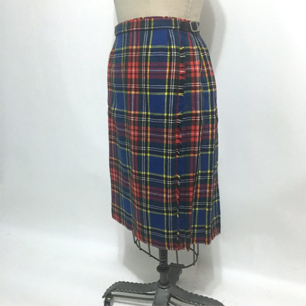 Scottish plaid wool skirt by Aston  - size XS - NextStage Vintage