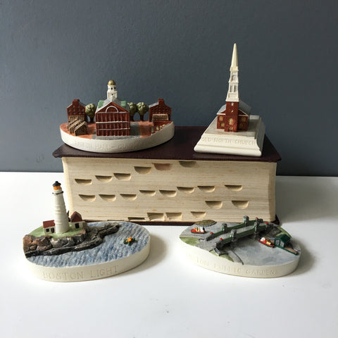 Sebastian Miniatures Boston landmarks - group of 4 - 1980s vintage