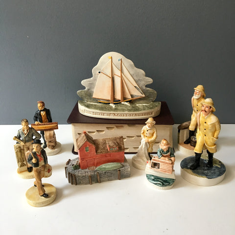 Sebastian Miniatures nautical miniatures - 9 pieces - 1980s vintage