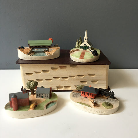 Sebastian Miniatures New England scenes - set of 4 - 1980s vintage