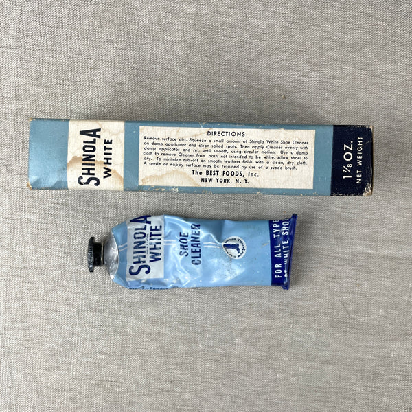Vintage Lady Esquire Shoe Dressing and Shinola Cream Shoe Cleaner - vintage packaging - NextStage Vintage
