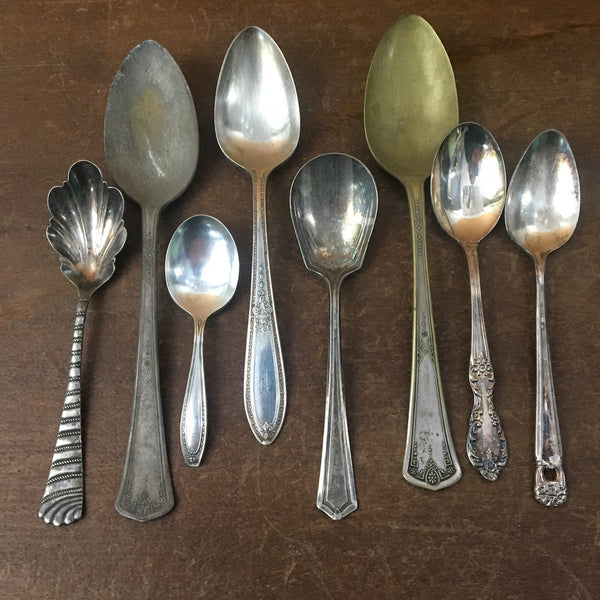 Vintage silverplate flatware collection - lot of 12 - Rogers and more - 1930s - NextStage Vintage