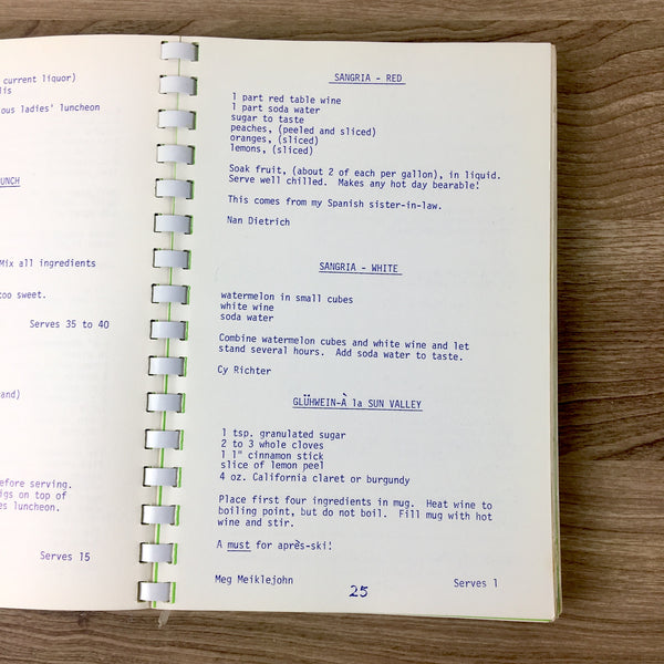 It's Time for a Little Something More - 1971 Simsbury Auxilliary Child and Family Services cookbook - NextStage Vintage