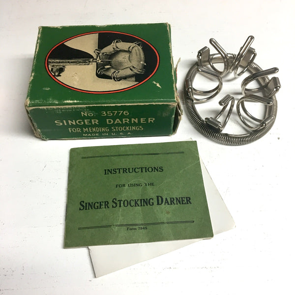 Singer Nu-Way Stocking Darner No. 35776 - 1905 sewing machine accessory - NextStage Vintage