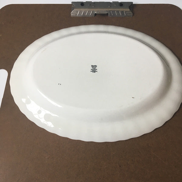 "Spode Buttercup medium oval serving platter 14.75"" - modern backstamp - NextStage Vintage"