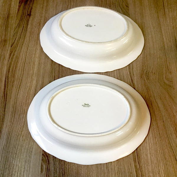 Spode Nordic pattern oval serving bowls - set of 2 - 1960s china - NextStage Vintage