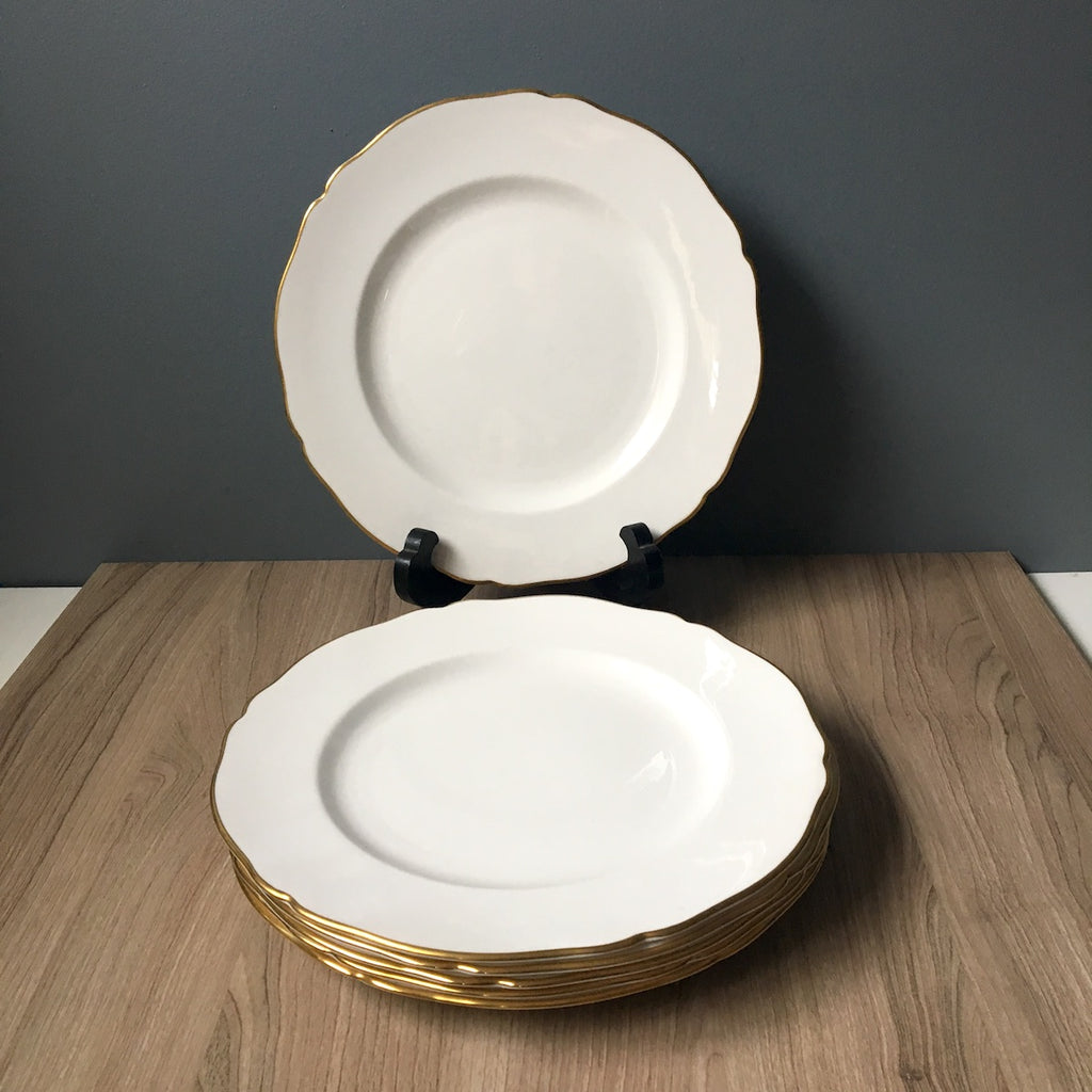 Spode Nordic pattern dinner plates - set of 6 - 1960s china - NextStage Vintage