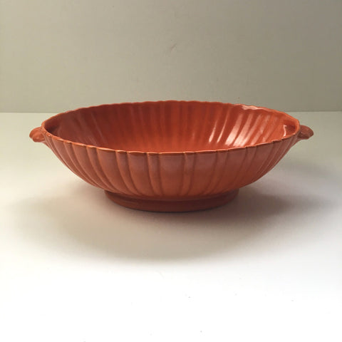 Stangl Colonial tangerine oval serving bowl - vintage pottery - 1930s serving - NextStage Vintage