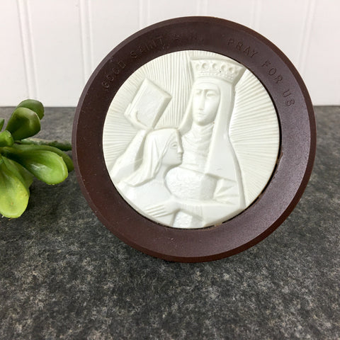 Good Saint Anne Pray for Us plastic art - vintage religious decor - NextStage Vintage