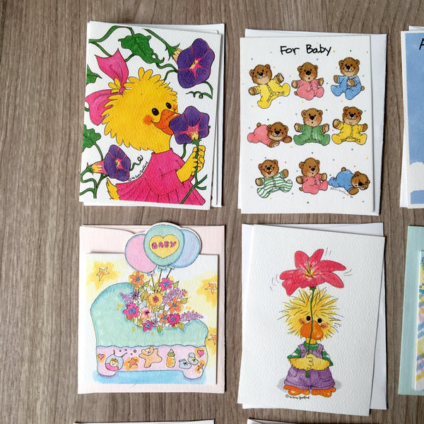 Suzy's Zoo gift enclosures - vintage 1990s greeting cards - NextStage Vintage