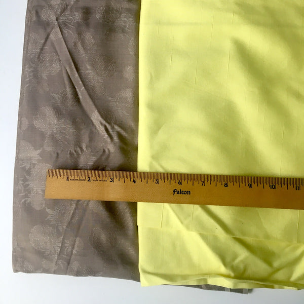 Vintage garment fabric mix - 14 yards - pink, tan, gray and yellow - 1960s - NextStage Vintage