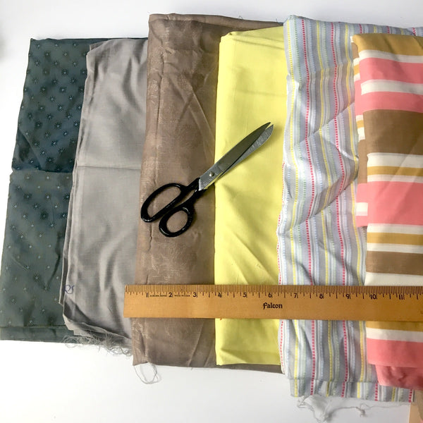 vintage garment fabric assortment