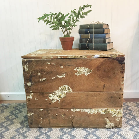 Wooden shipping crate - antique from the textile industry - circa 1900 or earlier