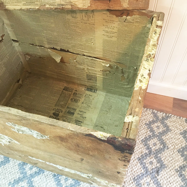 Wooden shipping crate - antique from the textile industry - circa 1900 or earlier - NextStage Vintage