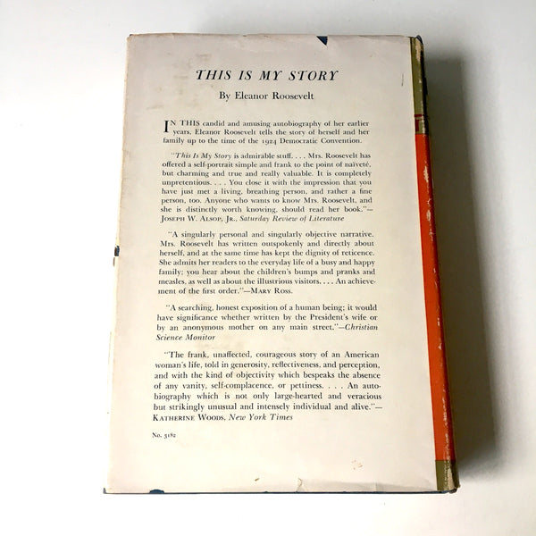 This I Remember - by Eleanor Roosevelt - 1949 hardcover autobiography - NextStage Vintage