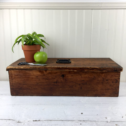 Rustic wooden tool box - handmade antique box