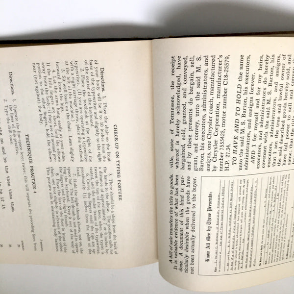 College Typewriting with Personal Problems - D.D. Lessenberry - 1941 textbook - NextStage Vintage