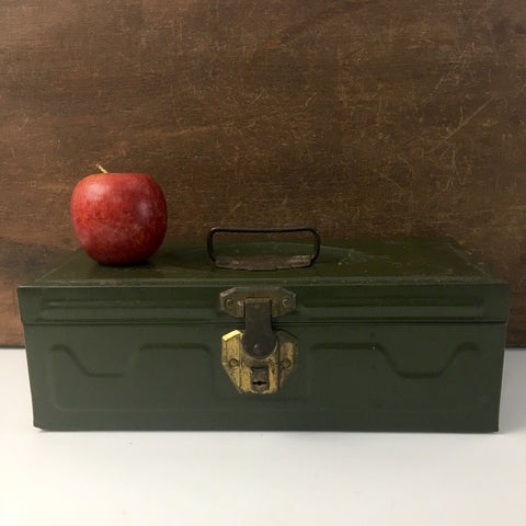 Union Utility Chest - vintage metal tool box - olive green - 1960s - NextStage Vintage