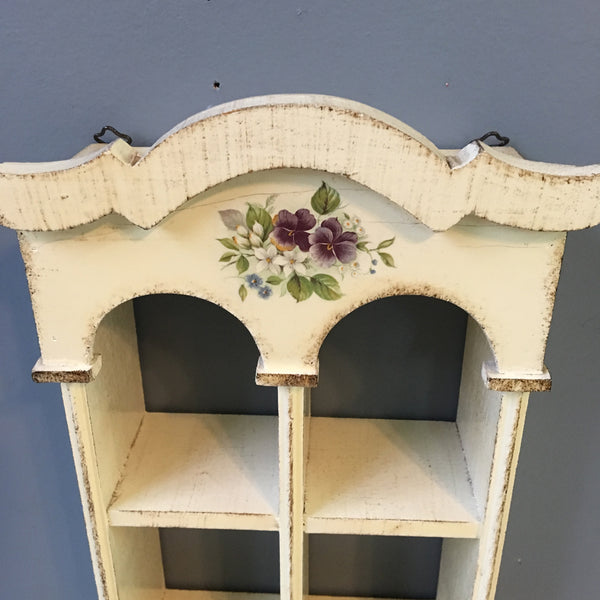 Legno Holz Wood Bois Italian curio shelf - gesso decoupage shelf