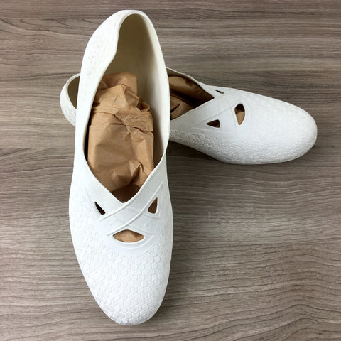 US Rubber white bathing shoes - vintage beach footwear