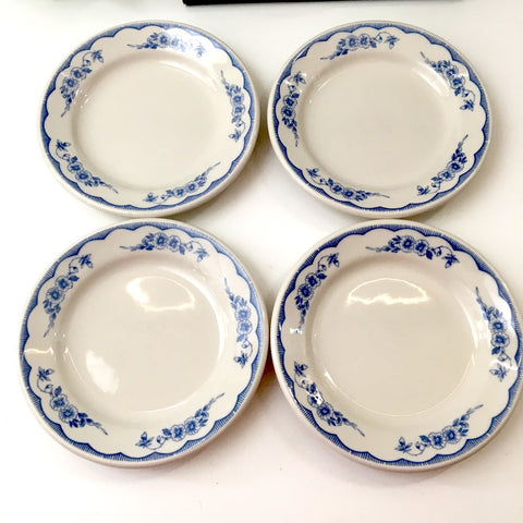 Homer Laughlin restaurant ware bread side plates - set of 8 - Williamsburg (MA) Inn pattern - NextStage Vintage