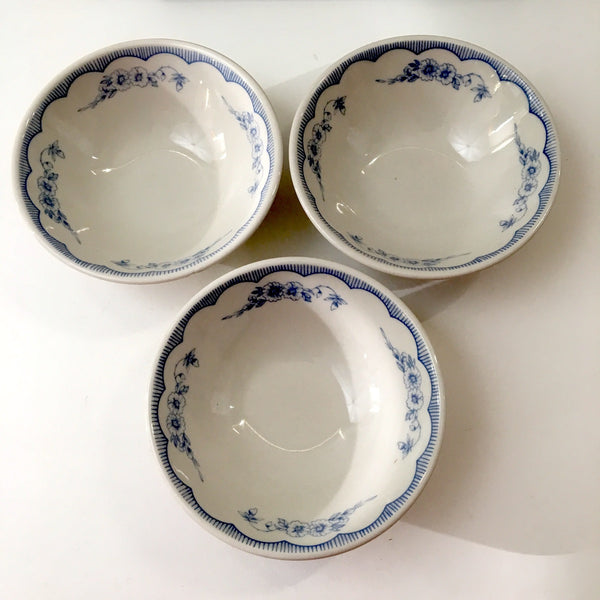 Homer Laughlin restaurant ware berry bowls - set of 6 - Williamsburg (MA) Inn pattern - NextStage Vintage